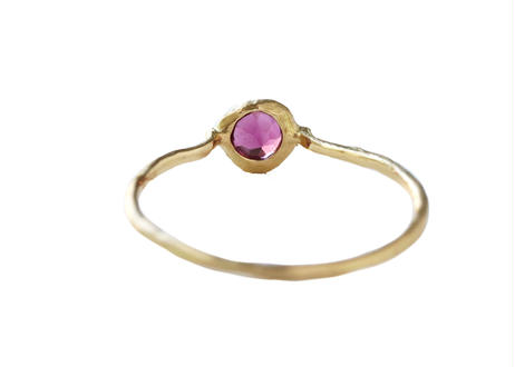 Rhodorite Garnet Rough Collet Ring