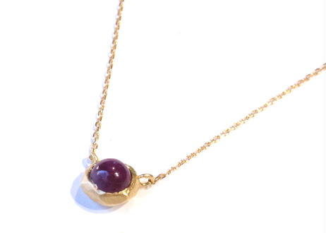 Ruby Rough Collet Necklace