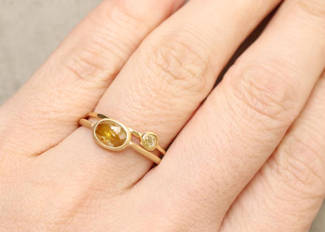 Natural Diamond Oval Ring