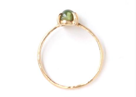 Green Tourmaline Catseye  Ring