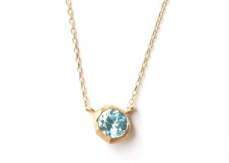 Bluetopaz Rough Collet Necklace