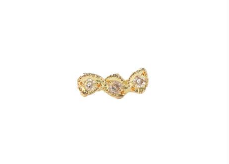 Classic Three Diamond Pierced Earring