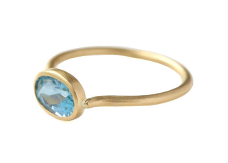 Aquamarine Santa Maria Oval Ring