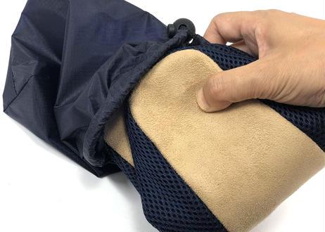 【シーアンドケイ】 リフレソール たびっ子 磁気治療器 ルームシューズ フリーサイズ  銅板で抗菌・消臭 & 磁気で血行促進 & メッシュ加工で通気性抜群 ネイビー