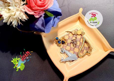 さいたま市誕生20周年記念  <Woody×Leather>スクエアトレイ~然*zen~ *受注生産*