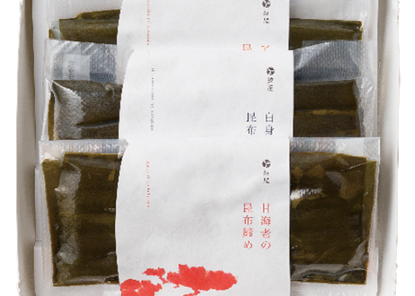 昆布締め(甘海老・あおりいか・白身魚) 3種入り