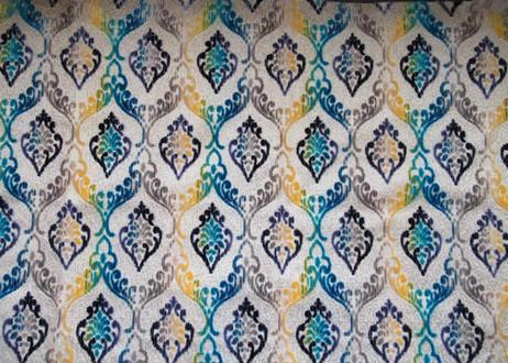 モロッコインテリア生地「グラデーションブルー」70×147cm一点