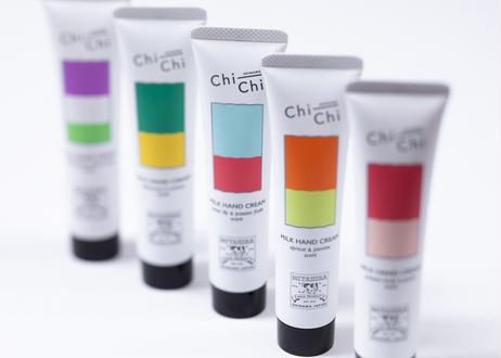 Chi-Chi ミルクハンドクリーム ウォーターリリー&パッションフルーツ