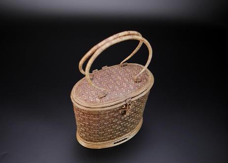 籐組楕円型ハンドバッグ タイ中部