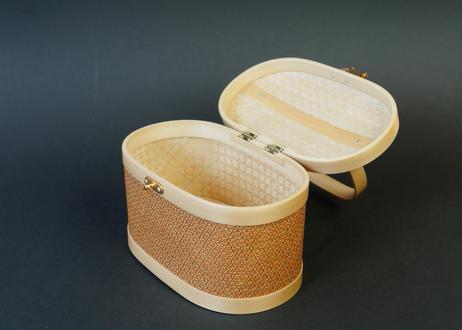 プラニー工房作 竹組手付籠 ピグンシリーズ オレンジ