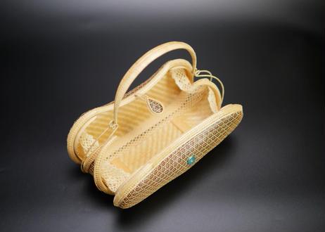 プラニー工房作 竹細工豆形ハンドバッグ ピグンシリーズ