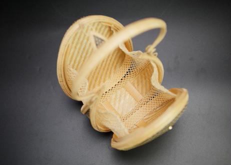 プラニー工房作 竹細工卵形ハンドバッグ ピグンシリーズ