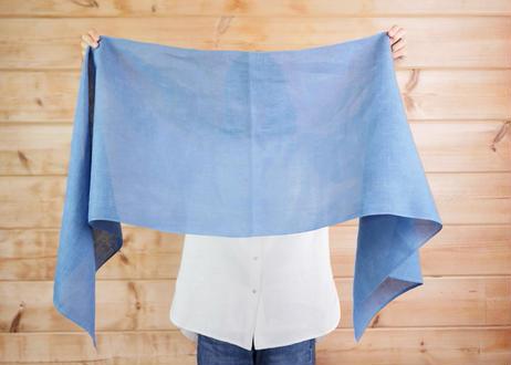 エシカルヘンプスクエアストール 正藍染め藍色 Mサイズ