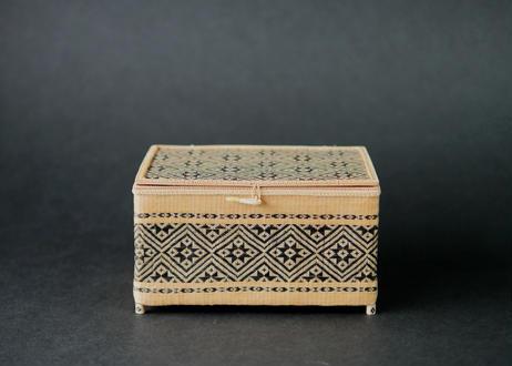 竹組角型花菱紋小籠 タイ中部