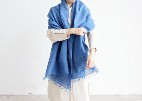 エシカルヘンプ手織りストール 正藍染め藍色 M