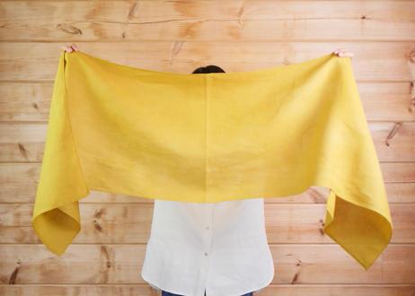エシカルヘンプスクエアストール 植物染め黄色 Mサイズ