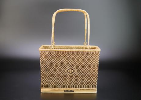 籐組角型ハンドバッグ  タイ中部