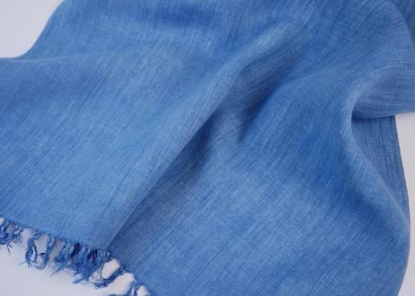 エシカルヘンプ平織りストール 正藍染め藍色 52cm幅