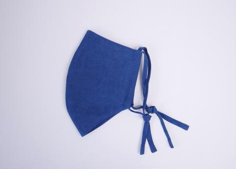 【男性用】エシカルヘンプフェイスマスク カレン族藍染め藍色