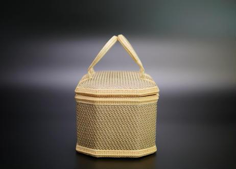 プラニー工房作 竹組八角手付籠 ピグンシリーズ
