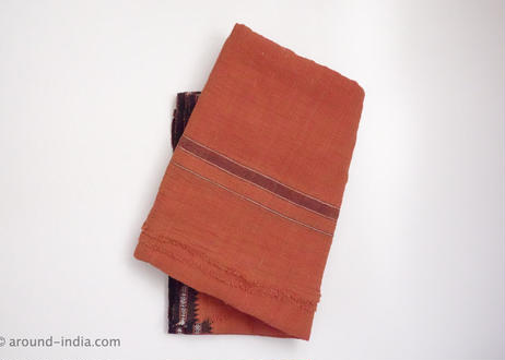 手紡ぎ手織り!オーガニックコットン・カディ大判布:LLサイズ|南インド