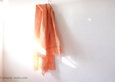 手紡ぎ手織り!オーガニックコットン・カディ大判布:Mサイズ|南インド