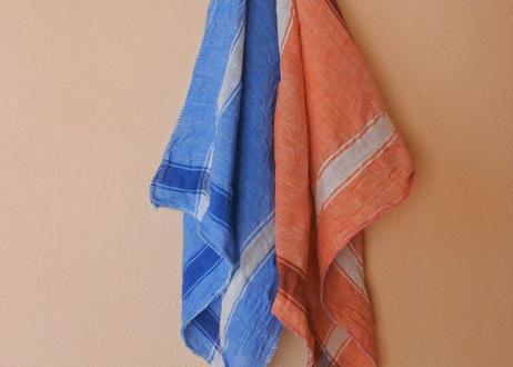 手紡・手織 カディ布|オーガニックコットンハンカチ|北インド