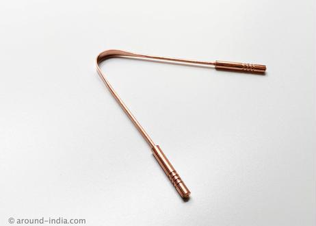 舌磨き タングスクレーパー+アーユルヴェーダミニブック 銅