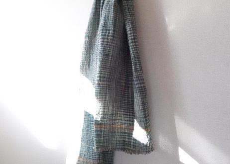 手紡ぎ手織り!オーガニックコットン・カディ大判布:Lサイズ|南インド