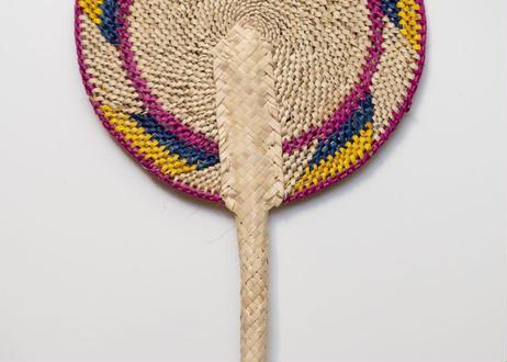 うちわ S|手編み|スリランカ