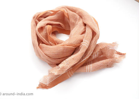 手紡ぎ手織り!オーガニックコットン・カディ布:Sサイズ 南インド