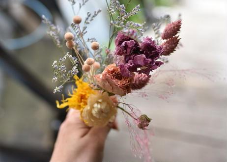 【発送商品】Flower vase & Dryflower set(花瓶とドライフラワーのセット)