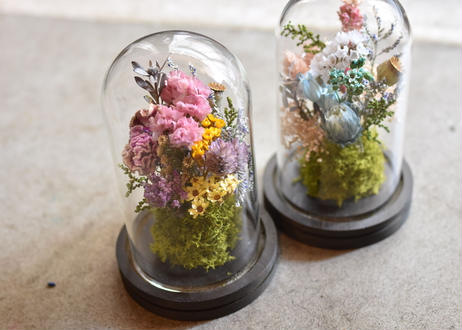 【発送商品】mini dome arrangement(ミニドームアレンジメント)