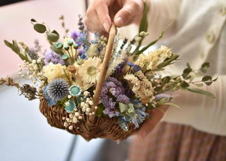 【発送商品】dry flower basket (バスケットアレンジメント)