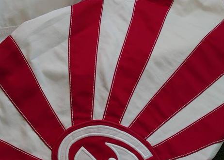 【USED】旭日旗サーフパンツ  赤