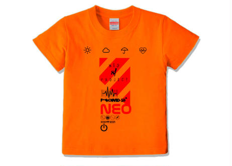 ネオ81プロジェクト キッズ/weather kids 120 Tシャツ スモールサイズ/orange
