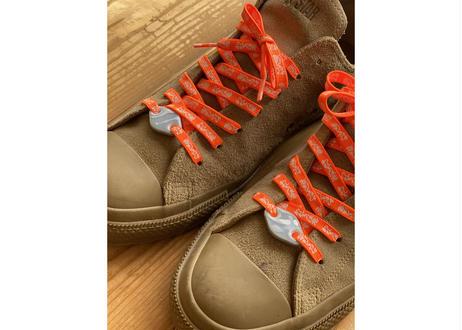 YUKI INOUE シューレースプレート(チャコールグレー)✖️GETABACO  靴紐(オレンジ) セット売り