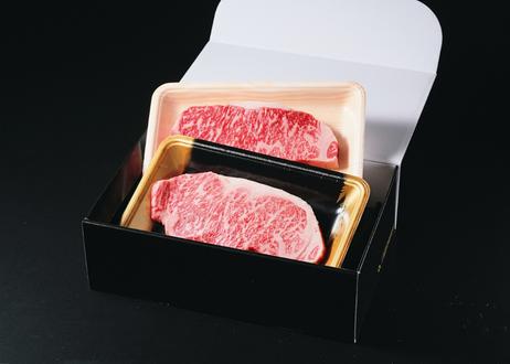ロースステーキ食べ比べセット(神石牛1枚200g、高原黒牛1枚200g)
