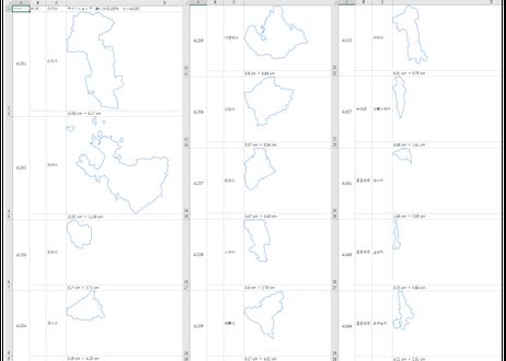 佐賀県:H31年行政区域地図のオートシェープ図形