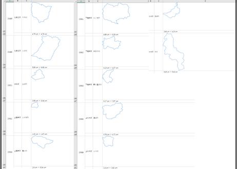 長野県:H31年行政区域地図のオートシェープ図形