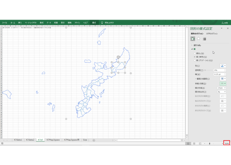 沖縄県:H31年行政区域地図のオートシェープ図形