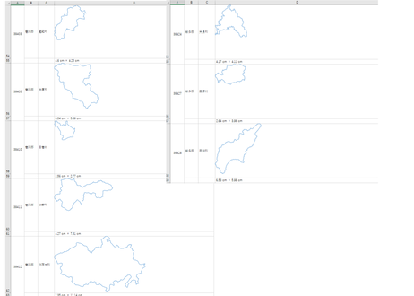 高知県:H31年行政区域地図のオートシェープ図形