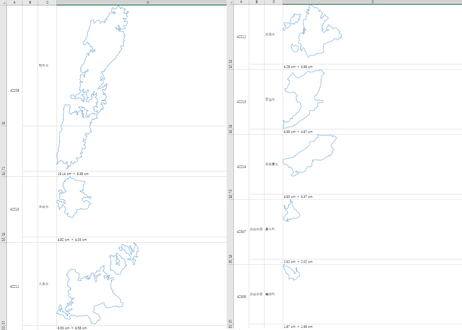 長崎県:H31年行政区域地図のオートシェープ図形