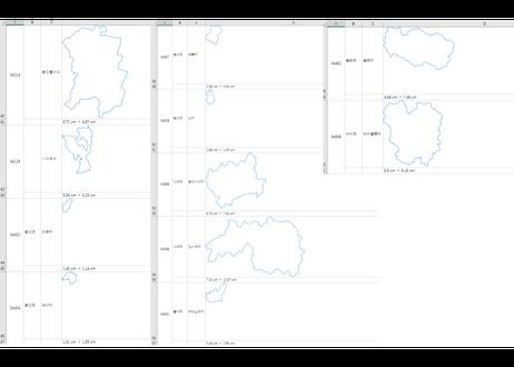 広島県:H31年行政区域地図のオートシェープ図形
