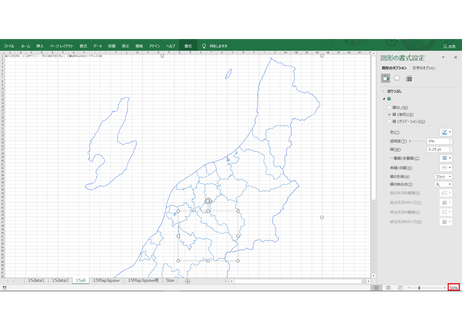 新潟県:H31年行政区域地図のオートシェープ図形