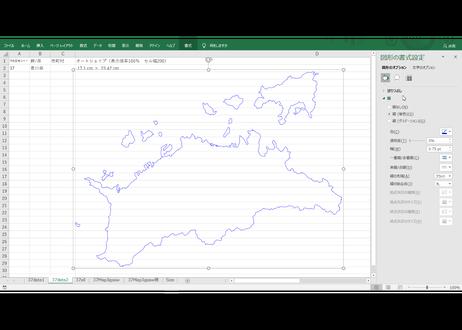 香川県:H31年行政区域地図のオートシェープ図形