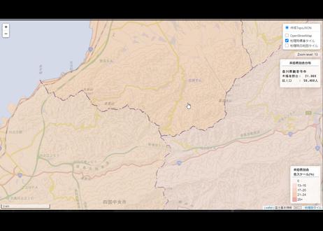 四国地方:PowerBI&ローカルHTML向けH31年行政区域TopoJSON
