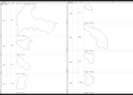 富山県:H31年行政区域地図のオートシェープ図形