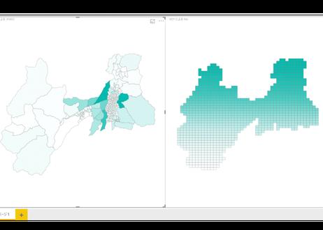 長野県松本市:PowerBI向けH27年度国政調査(町丁・字)TopoJSON