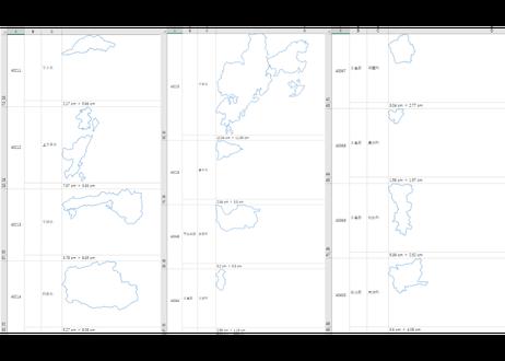 熊本県:H31年行政区域地図のオートシェープ図形